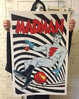 Madman Screen Print by Mike Allred & Secret Panel