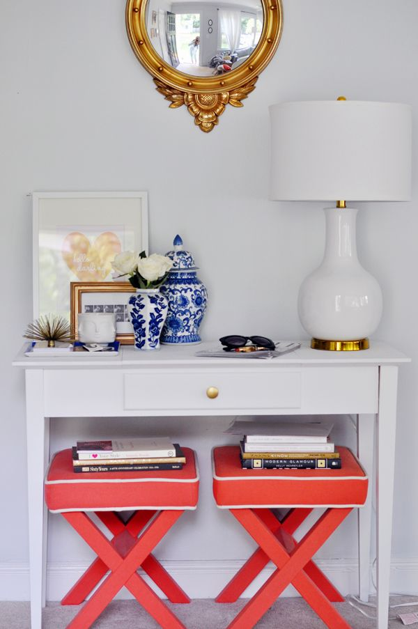 Foyer Table With Stools : Stephanie kraus designs benches ottomans cubes