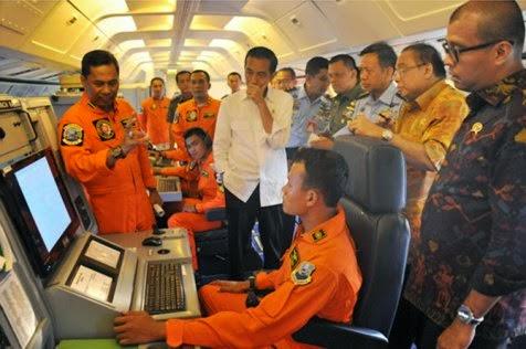 Jokowi ikut patroli TNI AU