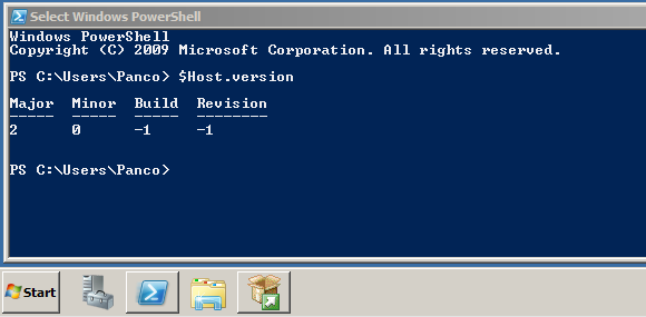Microsoft sql server 2012 installation guide dba study notes on the windows toolbar you should see the powershell button and you can validate the powershell version by hostrsion command sciox Choice Image