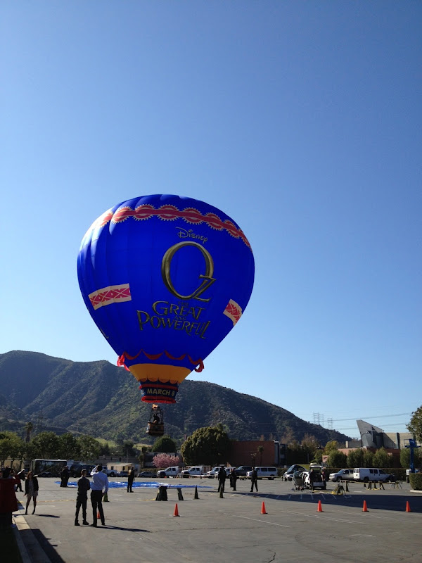 Oz Great Powerful hot air balloon Disney Studios