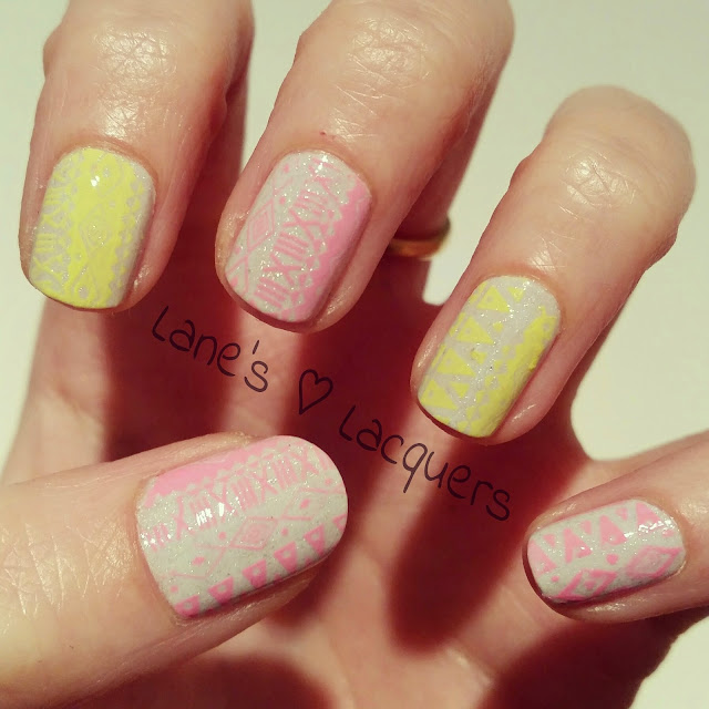 picture-polish-lakodom-neon-tribal-print-nail-art