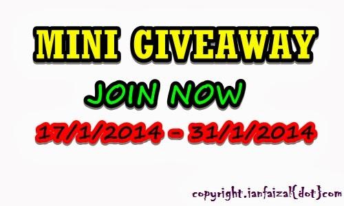 Mini Giveaway By Ianfaizal.com