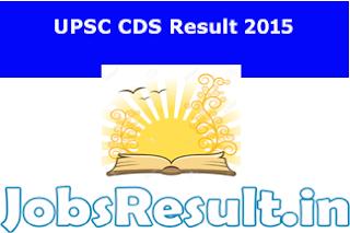 UPSC CDS Result 2015