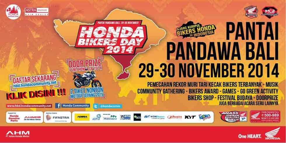 Honda Bikers Day 2014 Pantai Pandawa Bali