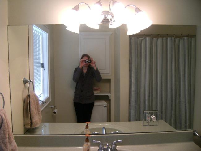 Projects Around The House DIY Framed Bathroom Mirror