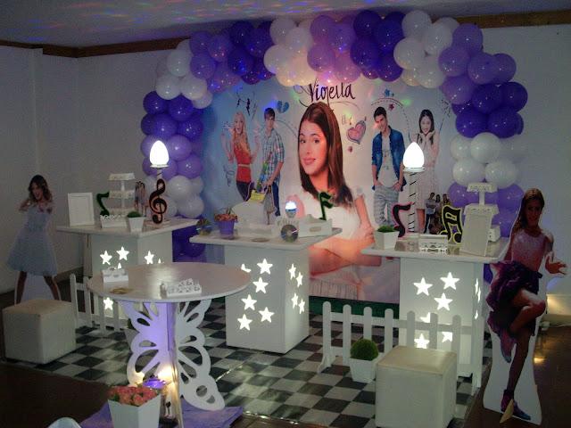 Mesa provençal - Violeta - decoração de festa para aniversário infantil