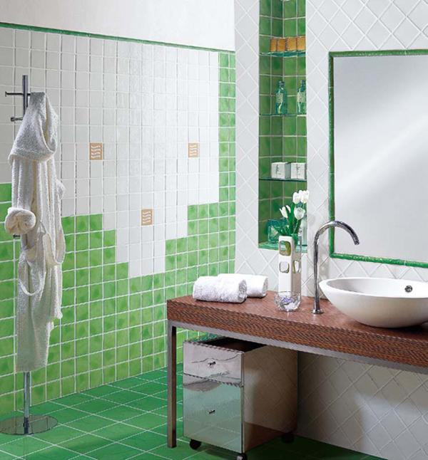 imagenes de baos color verdediseo de baos de color verde u varias ideas baos y muebles imagenes de baos color verde - Baos De Color