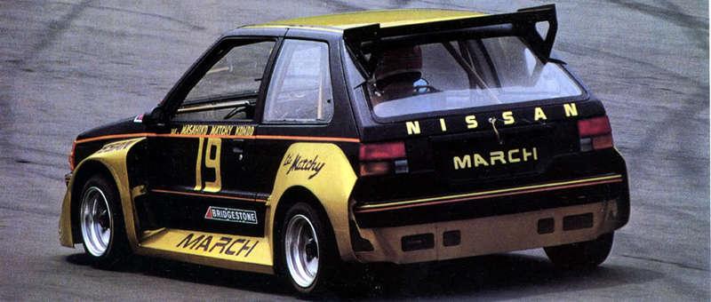 Nissan March (Micra) K10, classic racing cars, stare sportowe auta, małe wyścigowe samochody, JDM