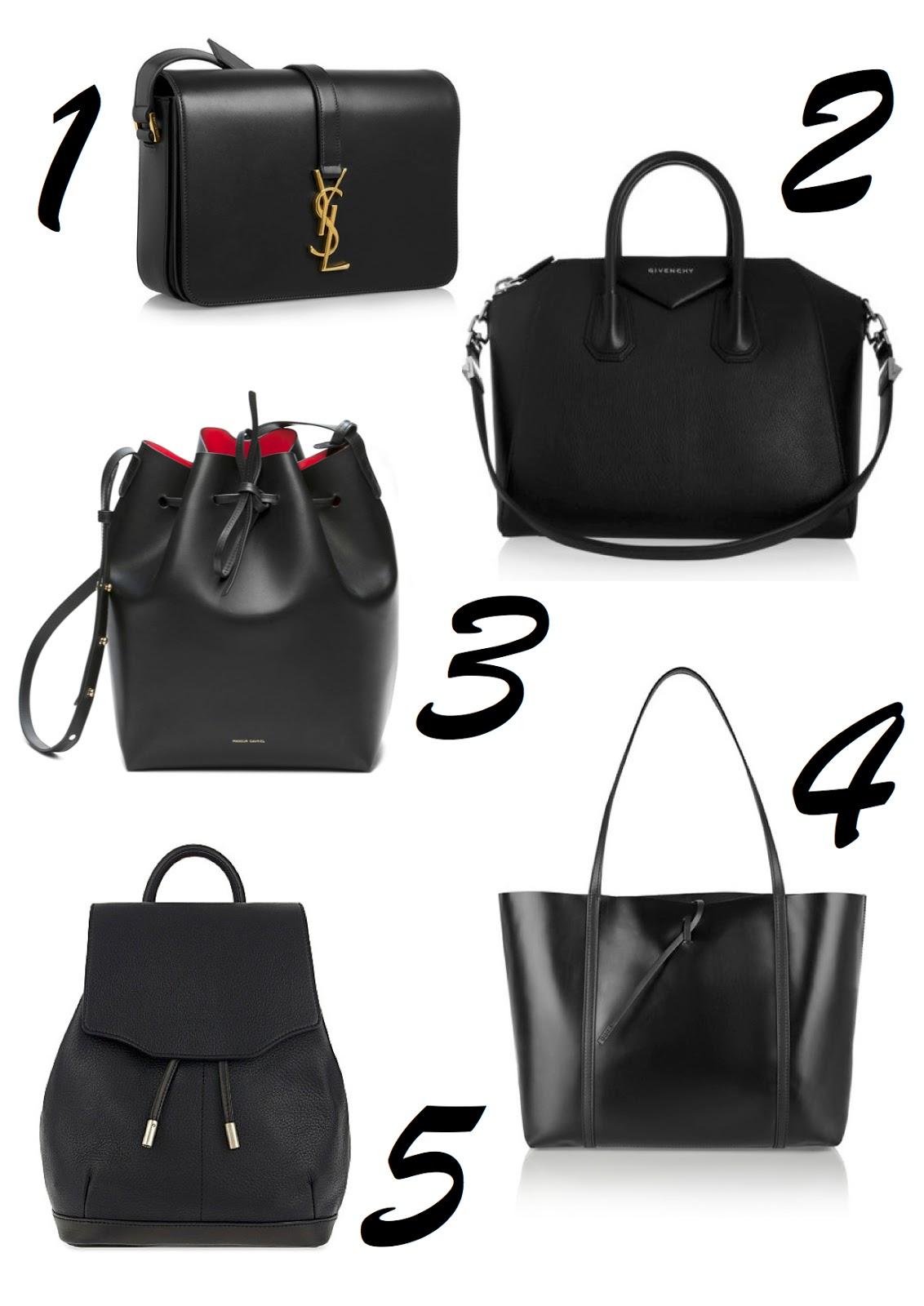 Givenchy Medium Antigona Bag 1 465 3 Mansur Gavriel Bucket 485 4 Kara Tie Leather Tote 365 5 Rag Bone Mini Pilot Backpack 480