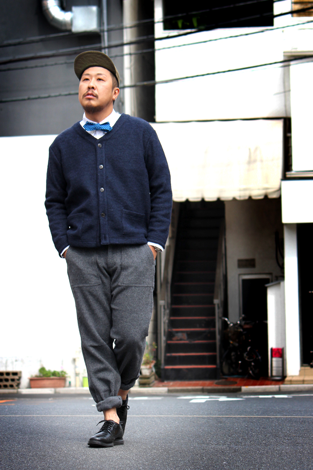 "Nisus Hotel ""Sliver Knit Cardigan"" size S 16,200yenNisus Hotel ""Wool Baker Pants"" size L 22,680yen"