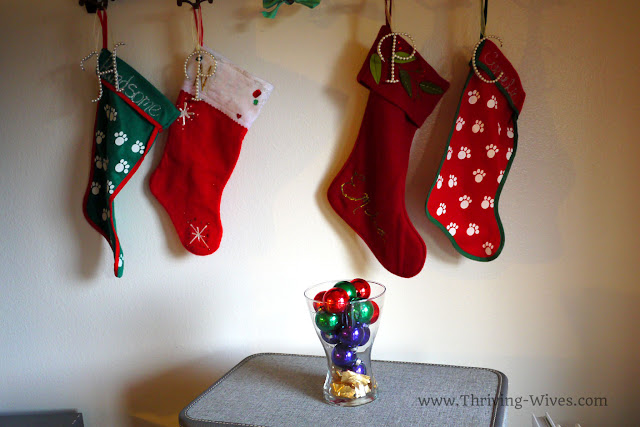 holiday decorating on a budget ornaments and stockings