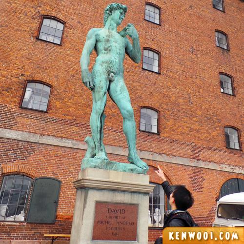 copenhagen david statue