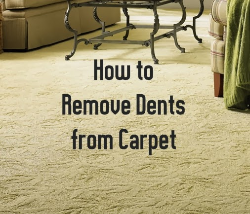 DIY: How to Remove Dents from Carpet