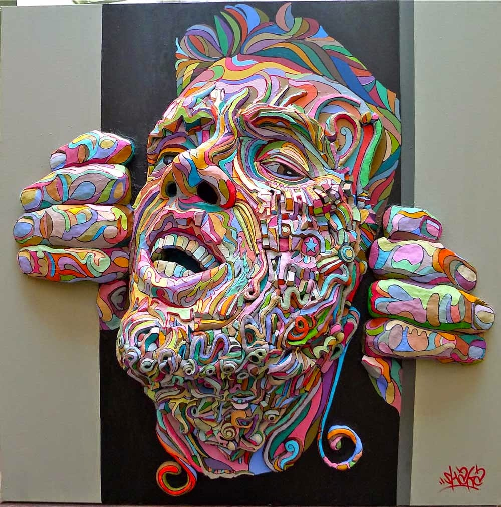 Simply creative three dimensional paintings by shaka for 3d sculpture artists