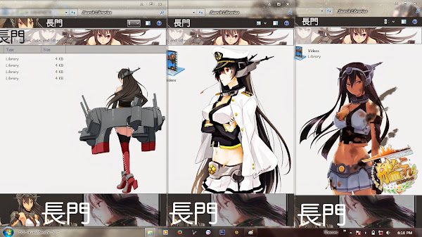 [ThemeWIN7] Kantai Collection (KanColle) – Nagato by kurohtenshi 3