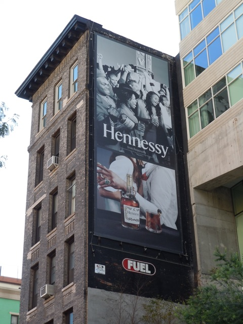Hennessy Cognac billboard NYC