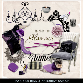 "Free scrapbook mini kit ""Glamour"" from Far Far Hill"