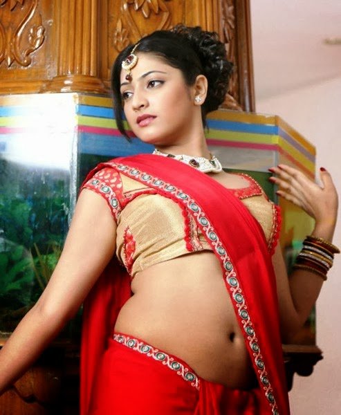 Haripriya Latest Images In Red Half Saree