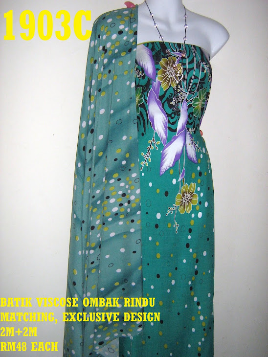 BVM 1903C: BATIK VISCOSE OMBAK RINDU MATCHING, EXCLUSIVE DESIGN, 2M+2M