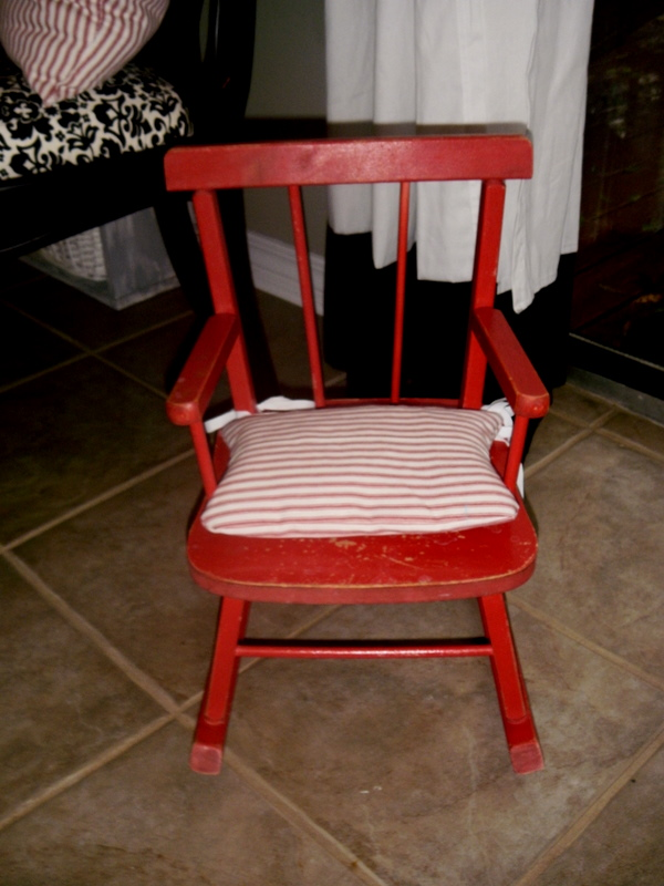 Miniature Red Rocking Chair ~ Morning by productions mini size rocking chair