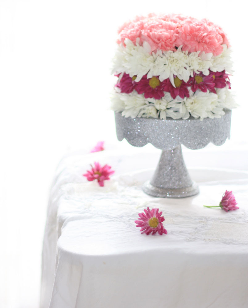 erins art and gardens DIY flower cake