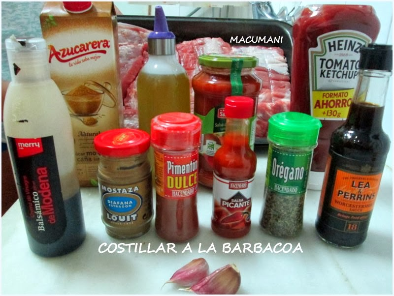 INGREDIENTES DE BARBACOA