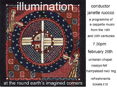 Concert flyer from 'At the round earth's imagined corners poster'