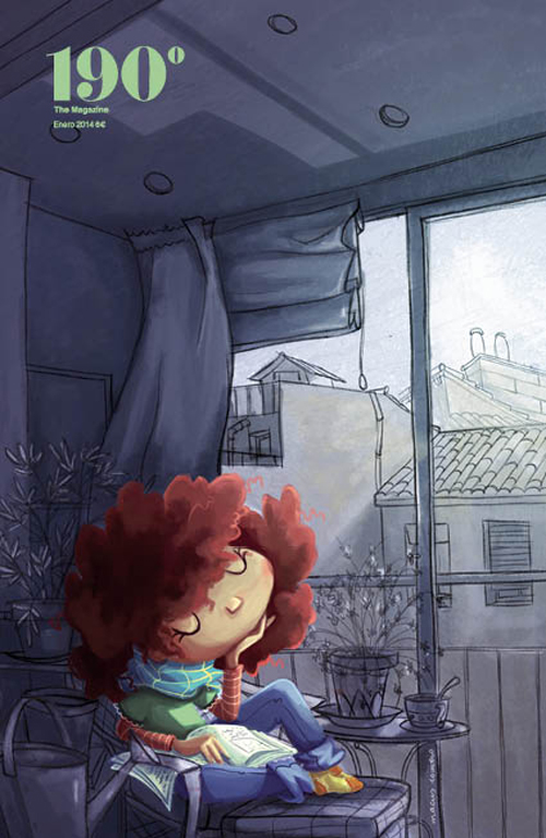 ilustracion infantil digital portada ilustrada de revista