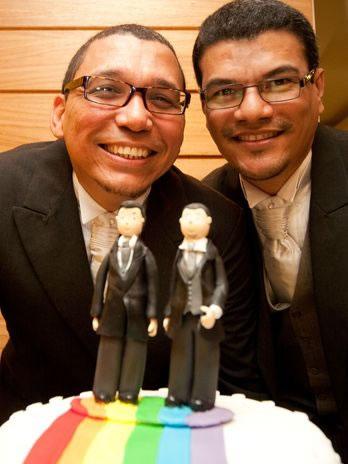 O casal oficializou a união estável no Rio de Janeiro (Foto: Reprodução)