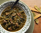 Sausage & Kale Split Pea Soup