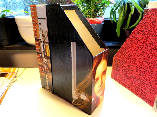 Covered Magazine Holder DIY