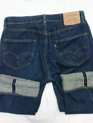 Vtg Levis 501xx Big E Red Salvage