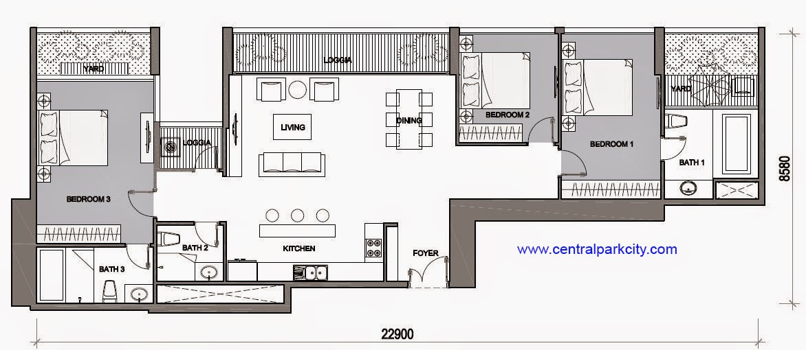 Vinhomes Central Park Penthouse - Căn Vinhomes Penthouse số 04 tầng 45 - 3PN - 159.8m2