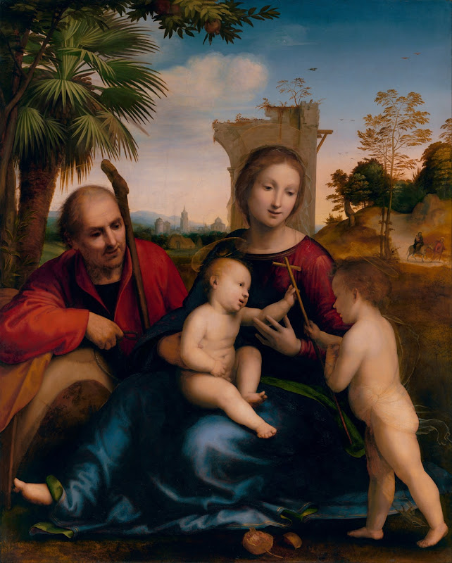 Fra Bartolommeo - The Rest on the Flight into Egypt with St. John the Baptist