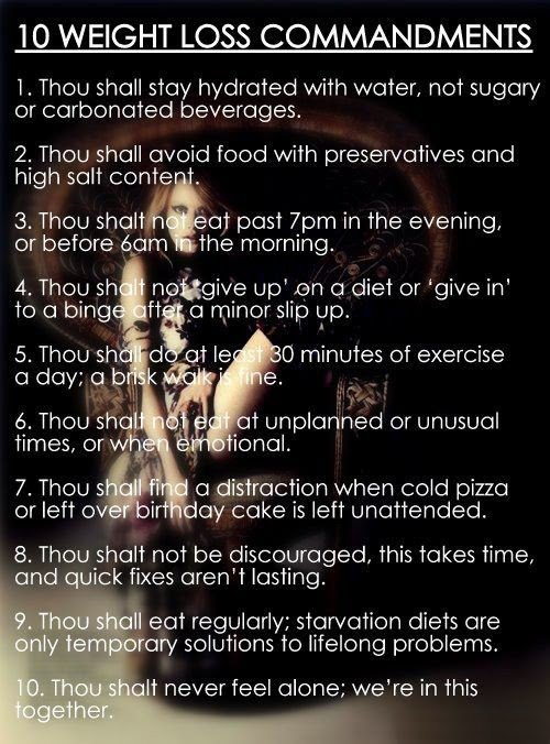 10 Weight Loss Commandments - Motivational