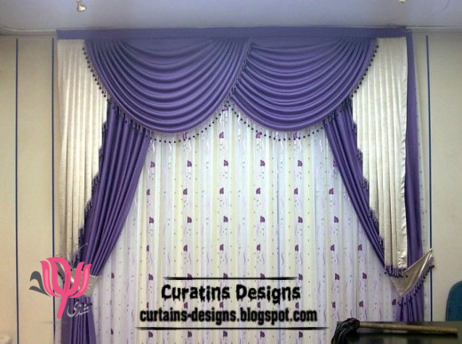 Merveilleux Latest Purple Curtain Design And Draperies, Purple Windows Treatment