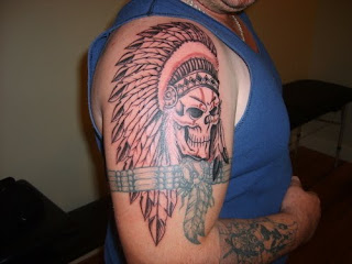 Red Indian tattoo design