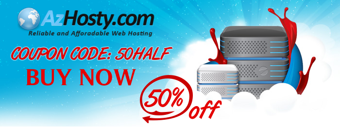 Hosting discount 50% OFF
