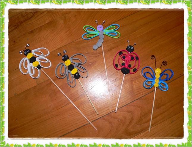 Hacer insectos con goma eva imagui - Hacer nombres con goma eva ...