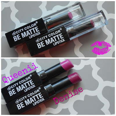 City Color Cosmetics Be Matte Lipsticks in Queenii & Denise