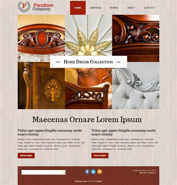 Furniture Company - Free Wordpress Theme