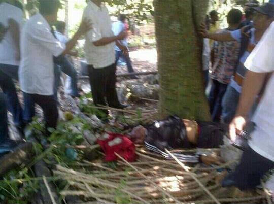 Askar Penceroboh mati dipukul penduduk kampung