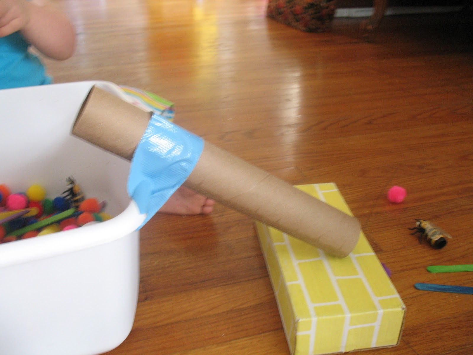 we can do all things: Sensory Tub With a Slide