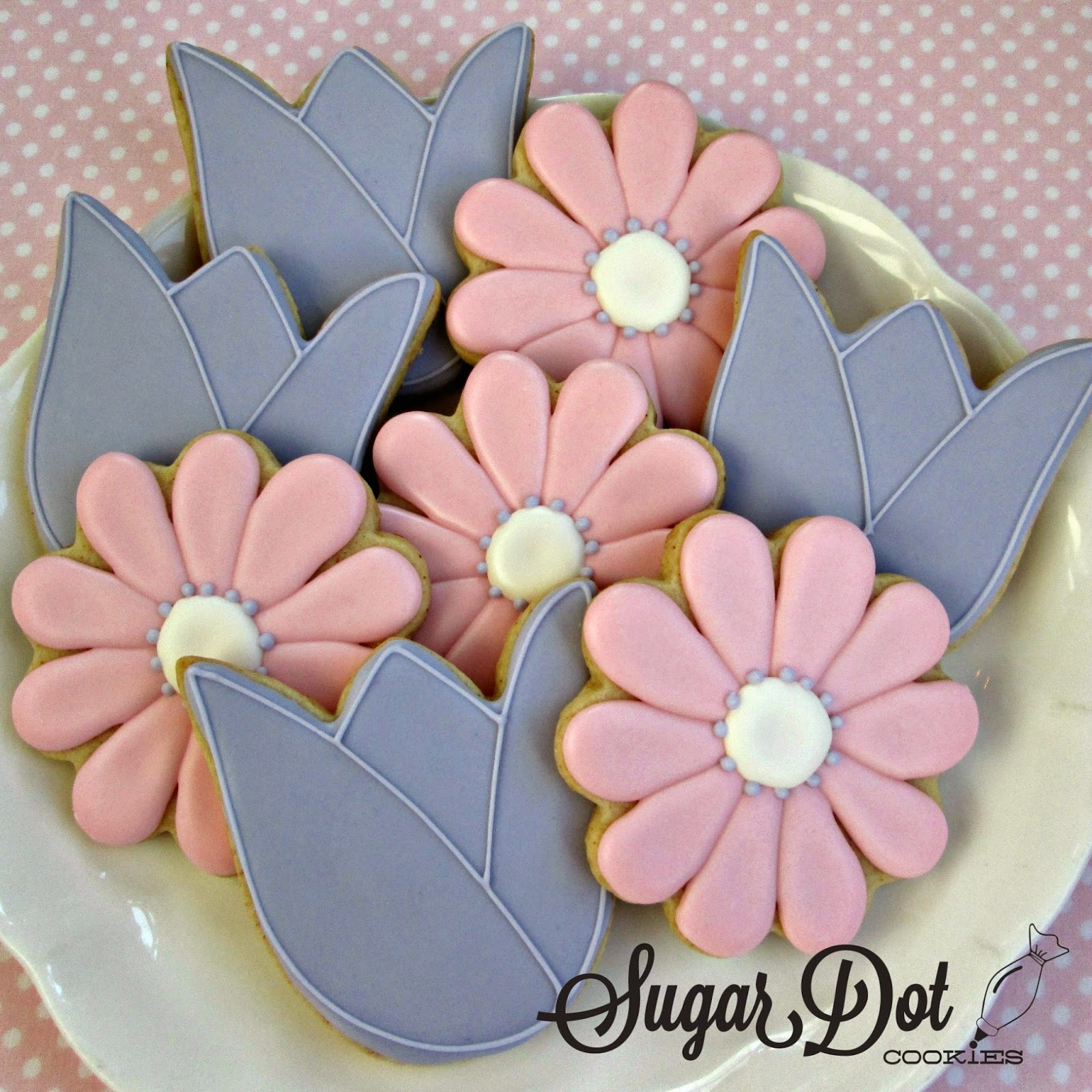 Sugar Dot Cookies: Tulip and Daisy Cookies