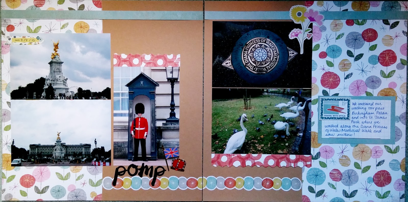 Summer vacation scrapbook ideas - Today I Am Sharing More Scrapbook Layouts From Our Summer Vacation Album We Re Still On Day 1 Of Our Time In London We Continued Our On Foot Sightseeing
