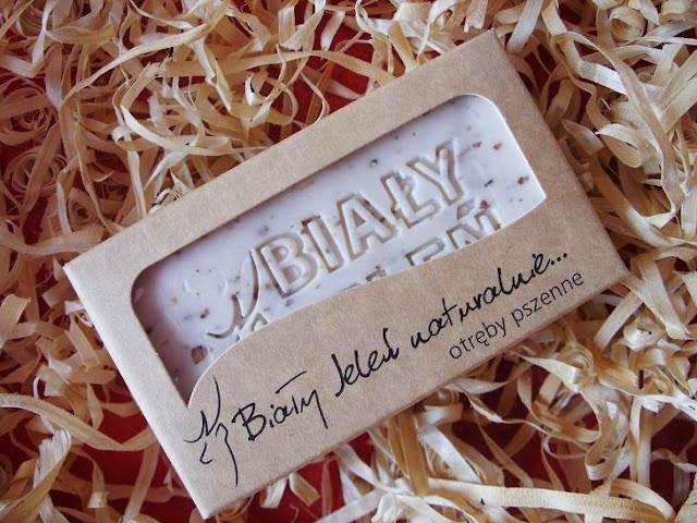Hipoalergiczne mydło naturalne z otrębami pszennymi, Biały Jeleń