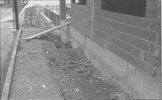 Ejecición incorrecta de un muro enterrado