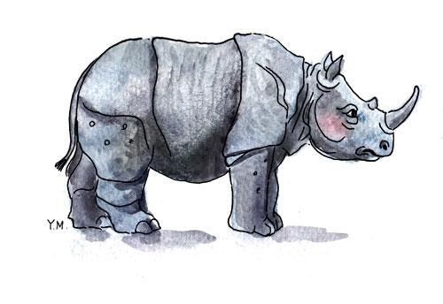 Rhinoceros by Yukié Matsushita