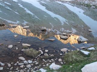 Gespiegeltes Alpenglühen